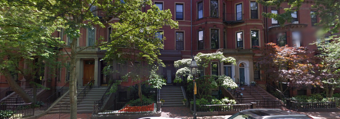 Back Bay brownstones screenshot from google maps